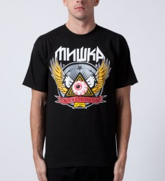 Mishka Black 10 Year Keep Watch Crest T-Shirt Model Picutre