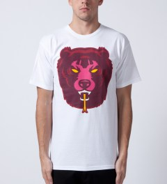 Mishka White Death Adder T-Shirt Model Picutre