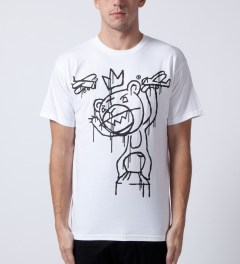 Mishka White Kong Mop T-Shirt Model Picutre