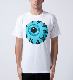 Mishka White Keep Watch T-Shirt Model Picutre