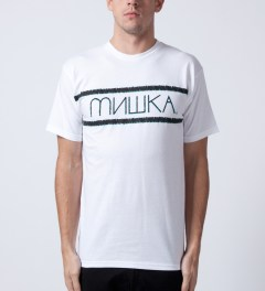 Mishka White Distressed Heatseeker T-Shirt Model Picutre