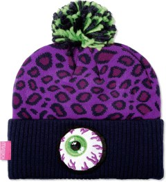 Mishka Magenta Safari Keep Watch Knit Pom Beanie  Picutre