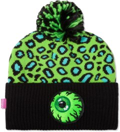 Mishka Green Safari Keep Watch Knit Pom Beanie  Picutre