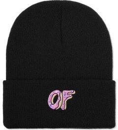 Odd Future Black OF Donut Beanie Picutre