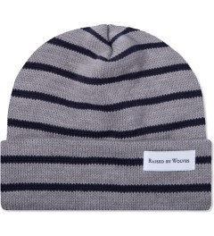 Raised by Wolves Heather Grey/Navy Stripes Saint-Henri Watch Cap  Picutre