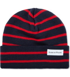 Raised by Wolves Navy/Red Stripes Saint-Henri Watch Cap  Picutre