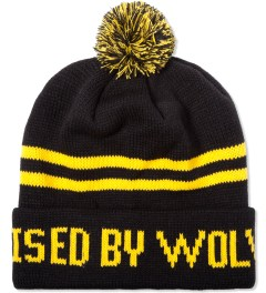 Raised by Wolves Black/Yellow C'Qui Do Beanie Picutre