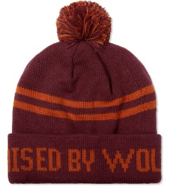 Raised by Wolves Maroon/Orange C'Qui Do Beanie Picutre