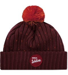 Raised by Wolves Maroon/Safety Orange Varsity Beanie Picutre