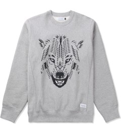 Raised by Wolves Heather Grey GDS Wolf Crewneck Sweater  Picutre