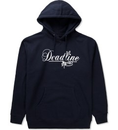 SSUR SSUR x Deadline Navy Script Logo Hoodie  Picutre
