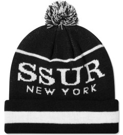 SSUR Black/White SSUR New York Pom Beanie  Picutre