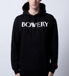 SSUR Black Bowery Hoodie  Model Picutre