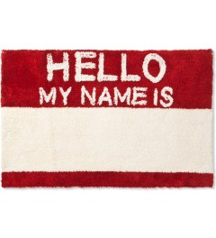 SECOND LAB Red HELLO MY NAME IS RUG Model Picutre