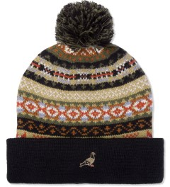 Staple Black Tompkins Beanie Model Picutre