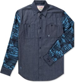 Staple Navy Hawthorn Chambray Shirt Picutre