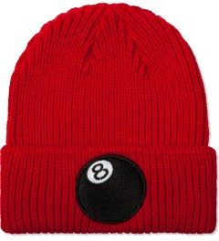 Stussy Red 8-Ball Cuff Beanie Picutre
