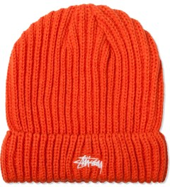Stussy Orange Solid Color Cuff Beanie Picutre