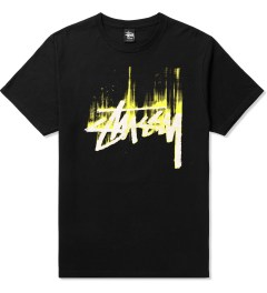 Stussy Black/Yellow Stock Paint T-Shirt Picutre