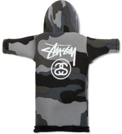 Stussy Black Camo Foam Bottle Coozie Hoodie Model Picutre