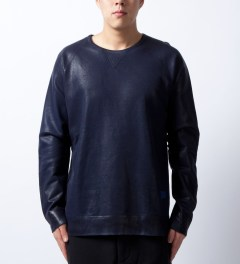 U.S. Alteration Navy Spray Sweater  Model Picutre