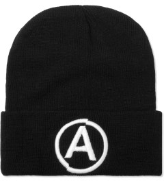 U.S. Alteration Black/White Embroidery Beanie  Picutre