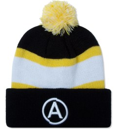 U.S. Alteration Yellow Pom Pom Embroidery Beanie  Picutre