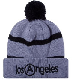 U.S. Alteration Grey Pom Pom Los Angeles Embroidery Beanie  Picutre