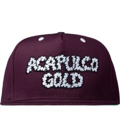 Acapulco Gold Burgundy UP IN Smoke Snapback Cap Picutre