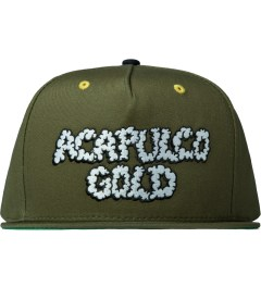 Acapulco Gold Olive UP IN Smoke Snapback Cap Picutre