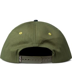 Acapulco Gold Olive UP IN Smoke Snapback Cap Model Picutre