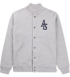 Acapulco Gold Heather Grey AG Varsity Fleece Jacket Picutre