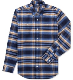 Acapulco Gold Navy Plaid Logger Flannel Shirt Picutre