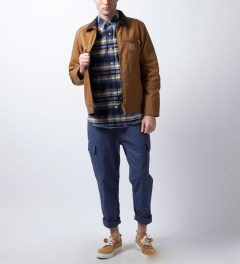 Acapulco Gold Navy Plaid Logger Flannel Shirt Model Picutre