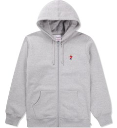 Acapulco Gold Heather Grey Angry Lo Bear Full Zip Hoodie Picutre
