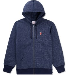 Acapulco Gold Salt & Pepper Navy Angry Lo Bear Full Zip Hoodie Picutre