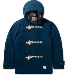 "Bedwin & The Heartbreakers Navy ""Jannis"" Duffle Coat Picutre"