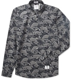 "Bedwin & The Heartbreakers Black ""Brian"" L/S B.D OG Paisley Shirt  Picutre"