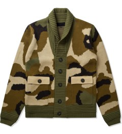Black Scale Olive Kaiser Knitwear Jacket  Picutre