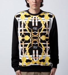 Black Scale Black Equestre Sweater  Model Picutre