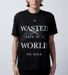 Black Scale Black A Wasted Life T-Shirt  Model Picutre