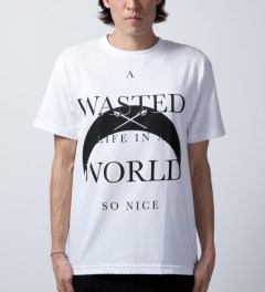 Black Scale White A Wasted Life T-Shirt  Model Picutre
