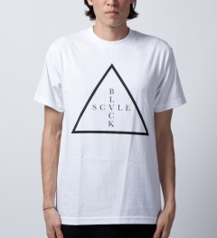 Black Scale White Addition T-Shirt  Model Picutre