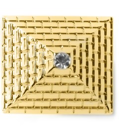 Black Scale Gold Single Pyramid Ring  Model Picutre