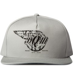 DQM Grey Big Flats 5-Panel Strapback Camp Cap  Picutre