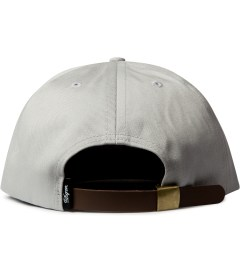 DQM Grey Big Flats 5-Panel Strapback Camp Cap  Model Picutre