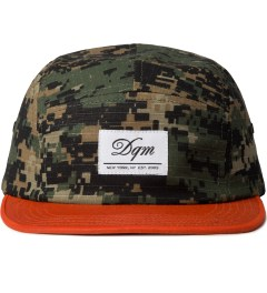 DQM Digital Woodland/Blaze Orange Allegany 5-Panel Camp Cap  Picutre