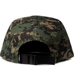 DQM Digital Woodland/Blaze Orange Allegany 5-Panel Camp Cap  Model Picutre