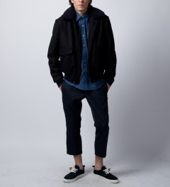 DQM Indigo F.M Denim Shirt Model Picutre