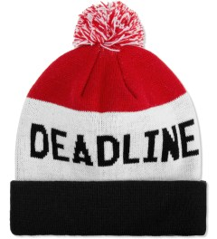 Deadline Black/White/Red Tri Color Beanie Picutre
